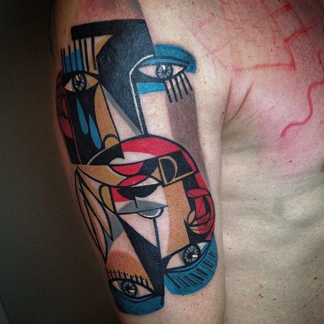 cubism tattoo accademia del lavoro 4